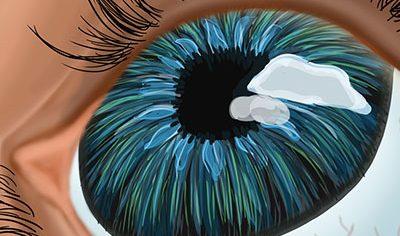 نقاشی دیجیتال چشم رنگی
