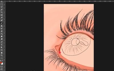 طراحی دیجیتالی چشم رنگی