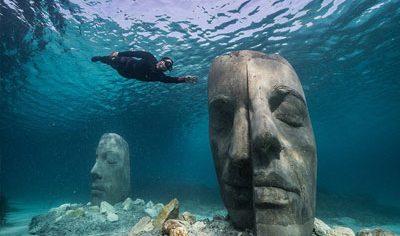 موزه زیر دریایی cannes با شش مجسمه عظیم الجثه